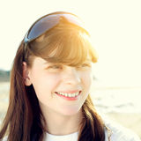 Teenage Girl outdoor. Happy Teenage Girl Portrait outdoor Royalty Free Stock Photos