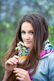 Teenage girl outdoor portrait Royalty Free Stock Photography