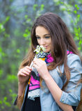 Teenage girl outdoor portrait Stock Image