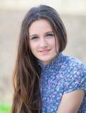 Teenage girl outdoor portrait Royalty Free Stock Photo