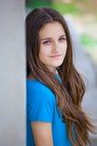 Teenage girl outdoor portrait. Outdoor portrait of beautiful teenage girl in spring Stock Image
