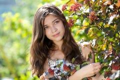 Teenage girl outdoor in summer day Stock Photos