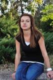 Teenage girl outdoors Stock Photos