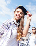 Teenage girl outside Stock Images