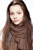 Teenage girl over white. Background Stock Photo