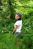 Teenage girl in park Royalty Free Stock Photos