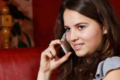 Teenage girl phoning Royalty Free Stock Photography