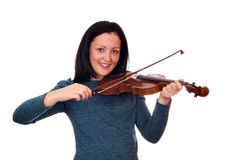 Teenage girl playing violin Royalty Free Stock Photo