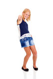 Teenage girl pointing Stock Images