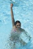 Teenage girl in the pool Stock Photos