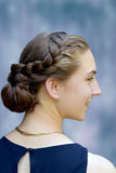 Teenage girl. Portrait of a teenage girl with beautiful braided hair Stock Images