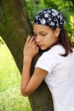 Teenage girl portrait outdoor Royalty Free Stock Images