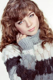 Teenage Girl Portrait wearing winter clothes Royalty Free Stock Images