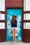Teenage girl posing Stock Photos