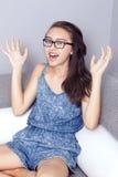 Teenage girl posing. Stock Images