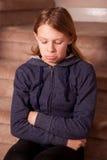 Teenage girl pouting Stock Photos
