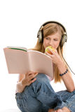 Teenage girl reading Stock Image