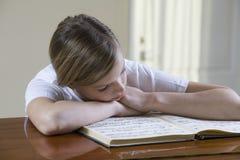 Teenage Girl Reading Music Sheet stock photos