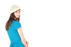 Teenage girl rear view Stock Image