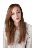 Teenage girl with red hair royalty free stock image