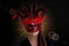 Masked teenage girl Royalty Free Stock Photo