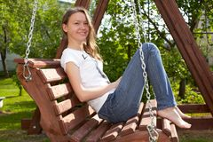 Teenage Girl Relaxing Royalty Free Stock Images