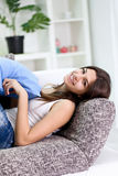 Teenage girl relaxing Stock Photo