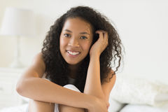 Teenage Girl Relaxing At Home Stock Photo