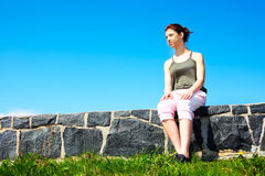 Teenage Girl Resting Royalty Free Stock Images
