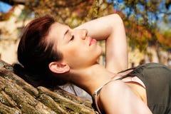 Teenage Girl Resting Royalty Free Stock Photos