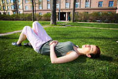 Teenage Girl Resting Royalty Free Stock Photos