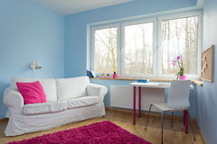 Teenage girl room. New up-to-date design of teenage girl room Stock Photos