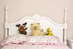 Teenage girl's bed Royalty Free Stock Images