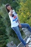 Teenage girl saying no Royalty Free Stock Photo