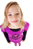 Teenage girl seen from above Royalty Free Stock Photos