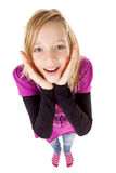 Teenage girl seen from above Stock Photography