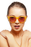 Teenage girl in shades Stock Image