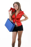Teenage girl shopping Royalty Free Stock Photography