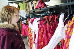 Teenage girl shopping Stock Image