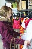 Teenage girl shopping Stock Images