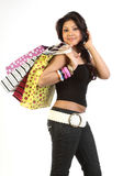 Teenage girl with shopping bags Royalty Free Stock Photography