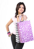 Teenage girl  with shopping bags Stock Photography