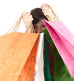 Teenage girl with shopping bags Stock Photo