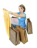 Teenage girl with shopping bags Royalty Free Stock Images