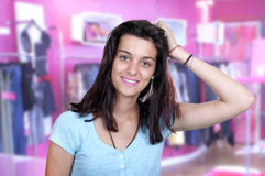 Teenage girl on a shopping Royalty Free Stock Images