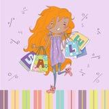 Teenage girl shopping. Stock Photography