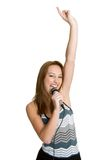 Teenage Girl Singing Royalty Free Stock Images