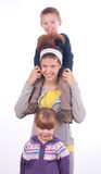 Teenage girl with sister and brother Stock Photography