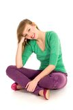 Teenage girl sitting Royalty Free Stock Images