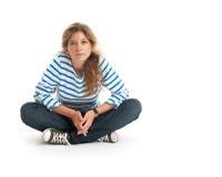 Teenage girl sitting Royalty Free Stock Photo
